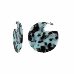 NWT Machete Clare Earrings in Blue Tortoise